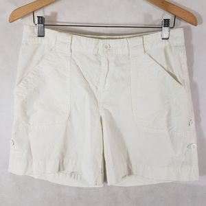 Athleta White Corduroy Shorts